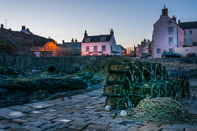 Portsoy Harbour looking over to the shore inn.