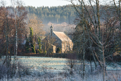 Rothiemay church, from the low road.