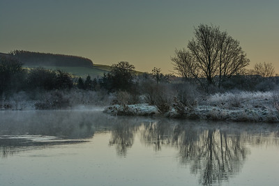 Frost and mist on the Deveron at Rothiemay
