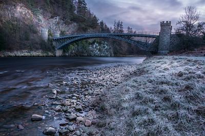 First frost at the Craigellachie Bridge.