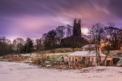 St Rufus and Old town station winters morning Keith