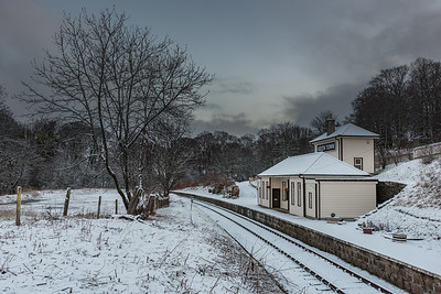 Keith Town Station in winter.