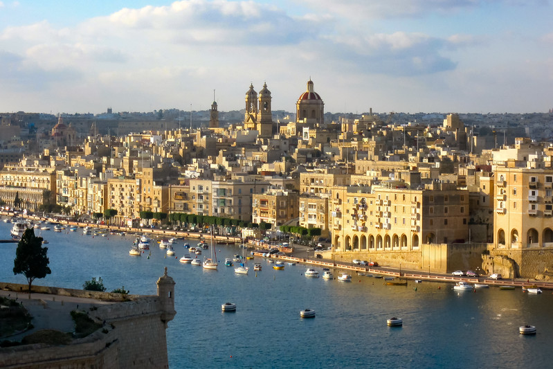 Malta Harbor just after sunrise