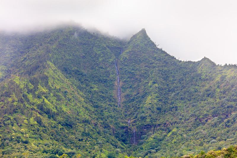Waterfall above Hanalei