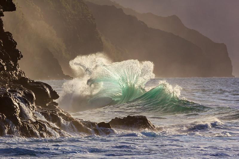 Na Pali Wave - Blown Glass