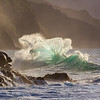 Na Pali Wave - Blown Glass