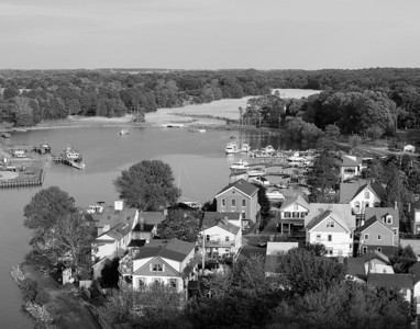 View From The Bridge B&W (Chesapeake City, Md)