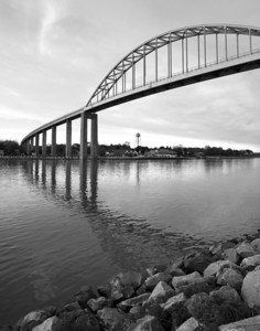 C and D Canal Bridge 2 B&W (Chesapeake City, Md)