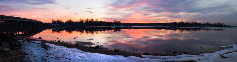 Winter On the Bohemia River Pano