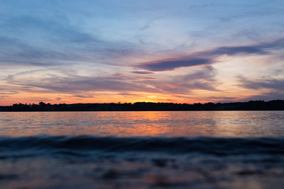 The Elk River at sunset (Chesapeake City, MD)