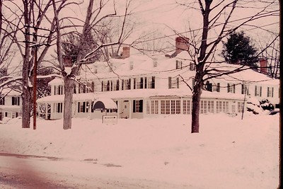 The Groton Inn in winter, c. 1960