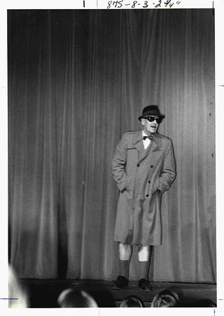 In talent show, 1978. He died that night of a heart attack.