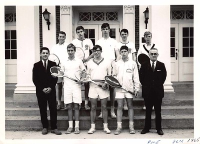 Roy Davis with varsity tennis team, c. 1966