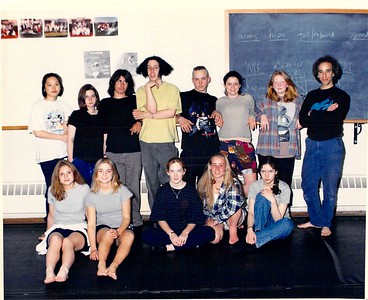 Brian with dancers, spring 1995.