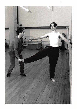 Brian with Tony Guglietti '94. Tony went on to a career in dance.