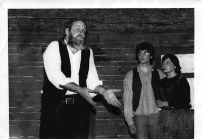 Fiddler on the Roof, 1976. Theater teacher Bill Harman is Tevye.
