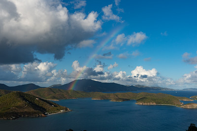 Rainbow over Tortola, BVI