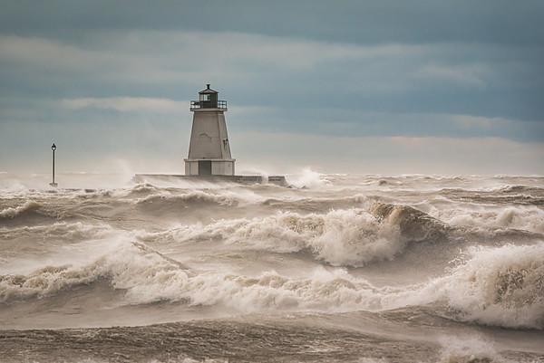 Port Maitland Pier - Windstorm 1: November 15, 2020