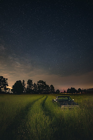 Farm Field Under The Stars