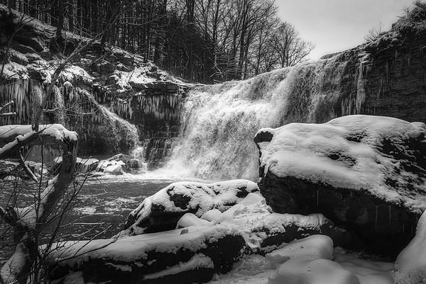 Ball's Falls in Winter - Upper Falls