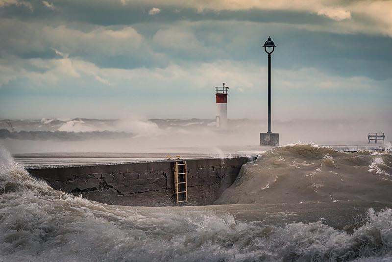 Port Maitland Pier - Windstorm 4: November 15, 2020