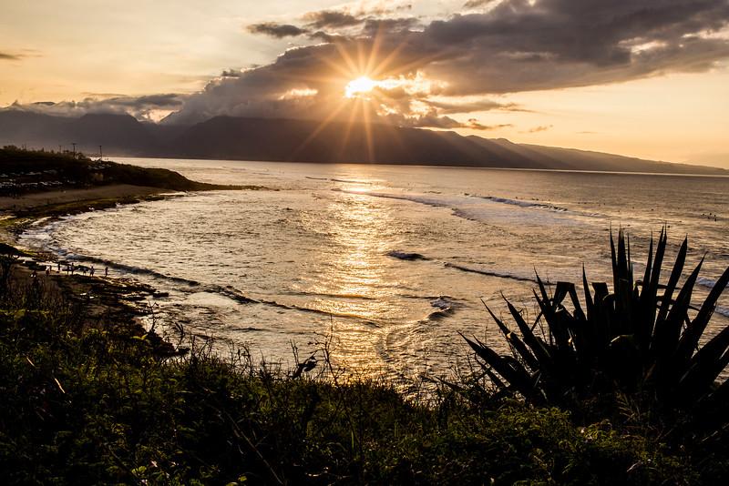 Sunset in Paia, Maui, Hawaii