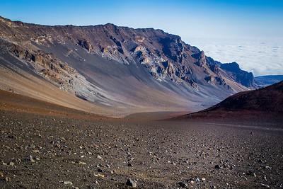 Haleakala Crater in Maui, Hawaii