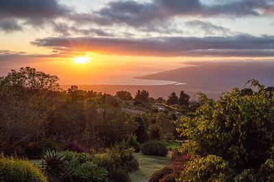 Maui Sunrise in Kula, Hawaii