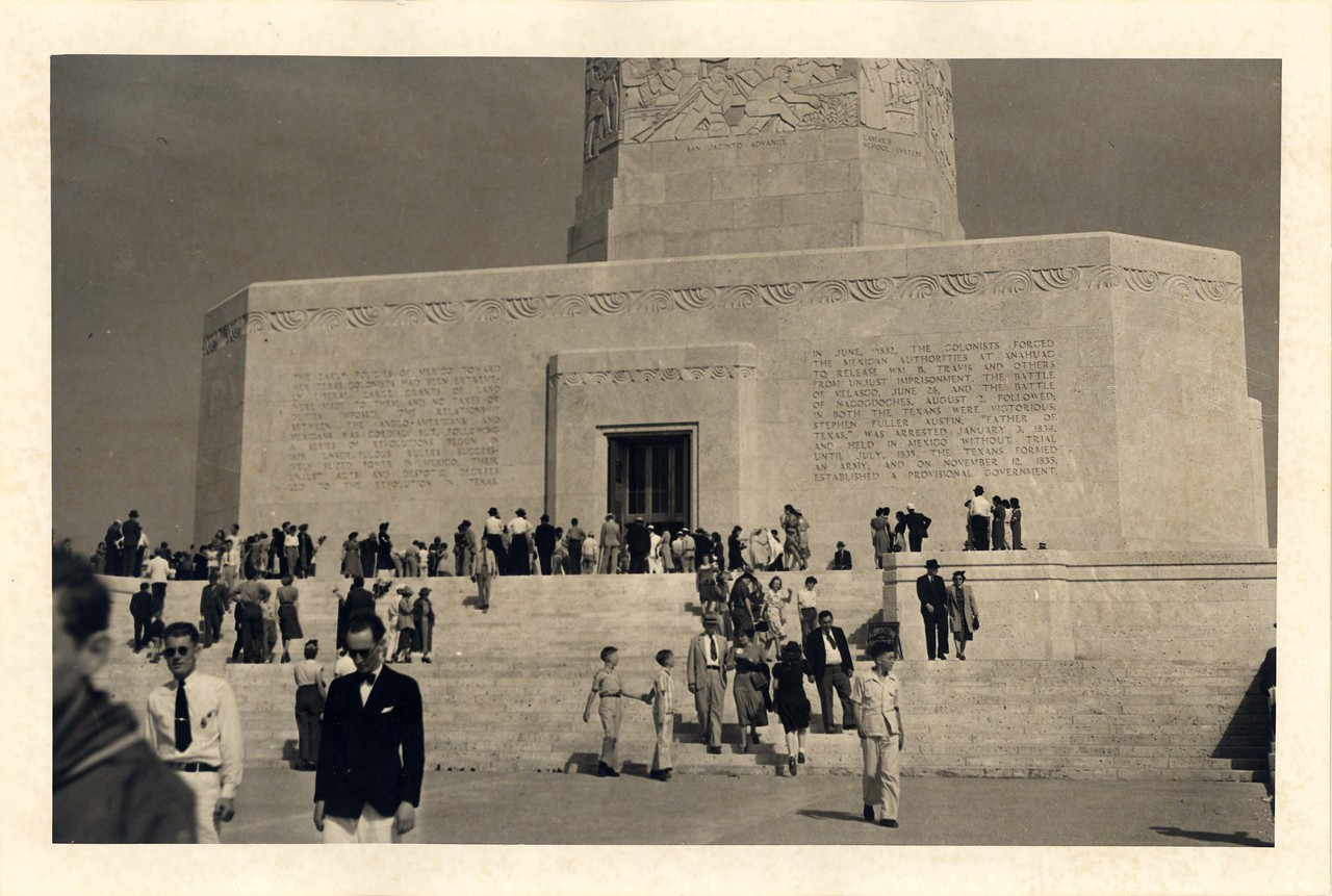 "In 1939 the San Jacinto Memorial Monument was called ""the most popular man-made tourist attraction in Texas.""  In its first six months, more than 175,000 people visited, from all 48 states and from 40 foreign countries.  75 years later, it continues to draw visitors from throughout the world, to see what George A. Hill, Jr., called ""one of the finest museums in America, and with the magnificent structure we have to house it in, it cannot be less than that."""