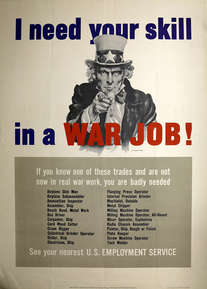 I Need Your Skill in a War Job: The Call for Industrial Workers