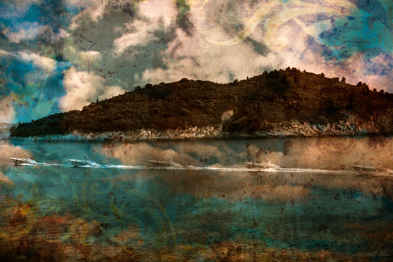 """Speed boat (serie """"impossible landscapes"""""""