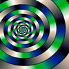 Blue and green spiral serie (4)