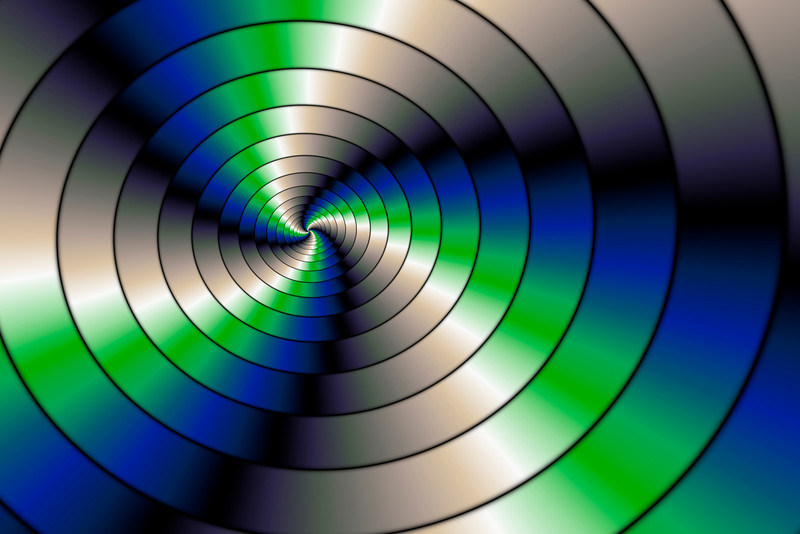 Blue and green spiral serie (5)