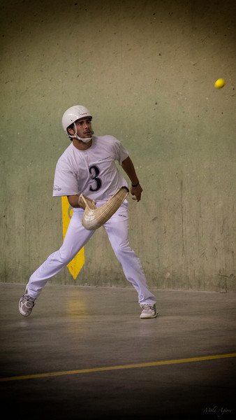 Jai Alai, variety of Basque pelota game, is a sport involving a ball bounced off a walled space.