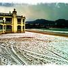 La Concha hondartza elurpean (Donostia)<br /> Snow on La Concha beach (Donostia)