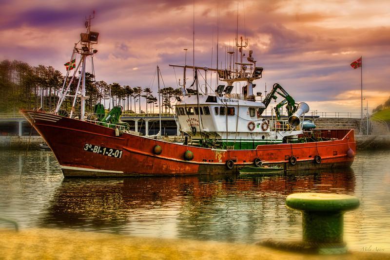 Kalamua arrantza-ontzia (Lekeitio, Bizkaia)<br /> Kalamua fishing ship (Lekeitio, Biscay)