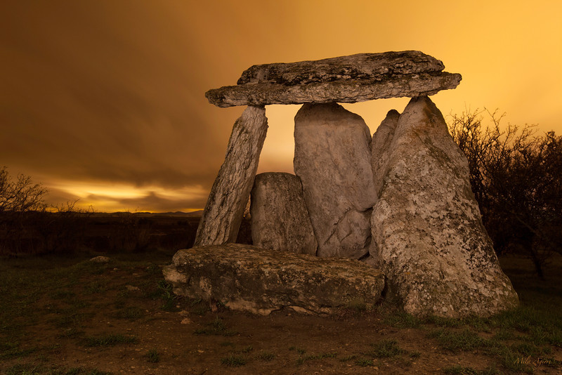 "Sorginetxe trikuharria (Agurain, Araba)<br /> Sorginetxea (Basque for ""The Witch's Hut"") is a dolmen located in Agurain, a prehistoric monument dated from around 2500 BC."