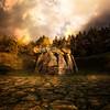 Aitzkomendi (Egilazeko trikuharria edo dolmena, Araba).<br /> Aitzkomendi dolmen (Egilaz, Araba), a prehistoric monument dated from around 2500 BC.