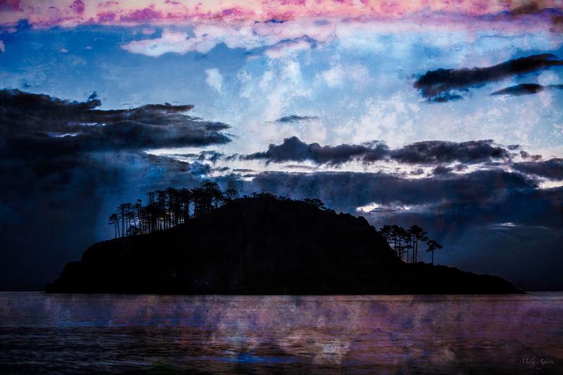 Egunsentia San Nikolas uhartean (Lekeitio, Bizkaia)<br /> Sunrise at San Nikolas Island (Lekeitio, Biscay)