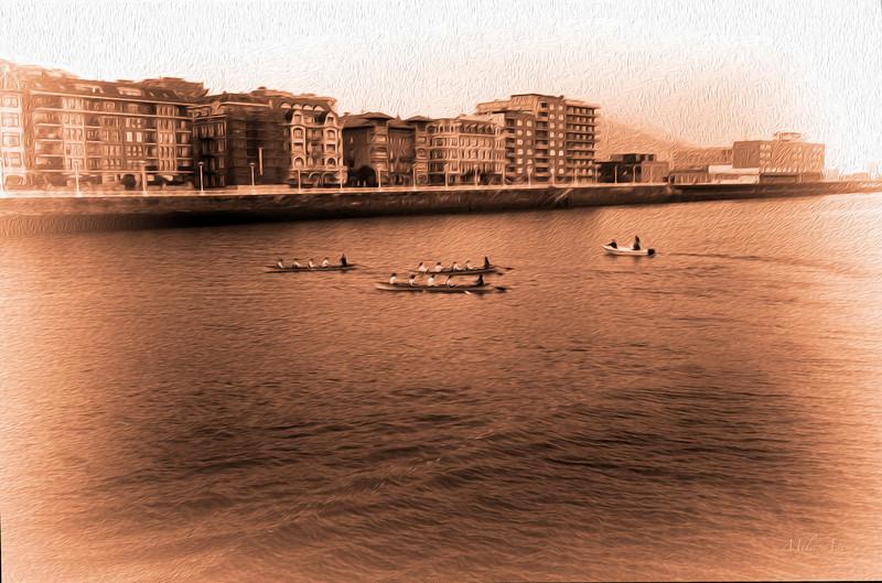 Trainerak Portugaleten (Bizkaia)<br /> Boat training in Portugalete (Biscay)