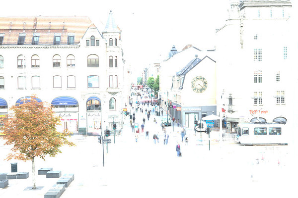 Karl Johans gate, the main street of Oslo