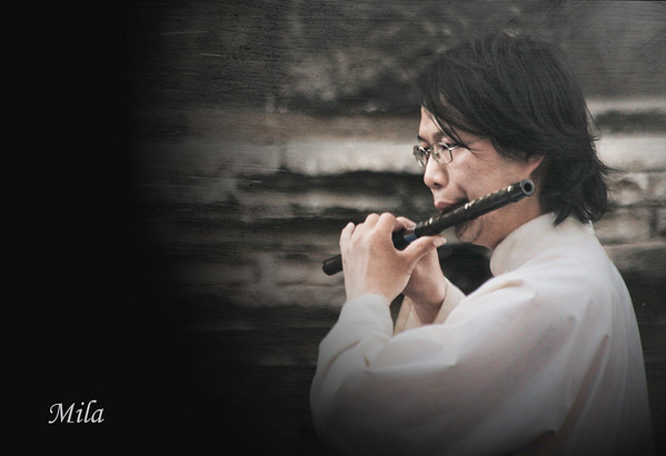 Musician in Wudang Mountain