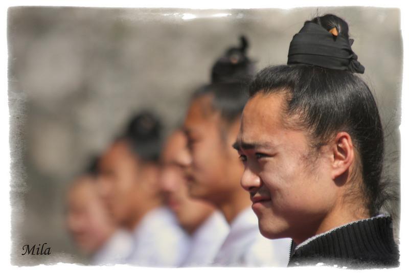 Taoist monks in Wudang mountain