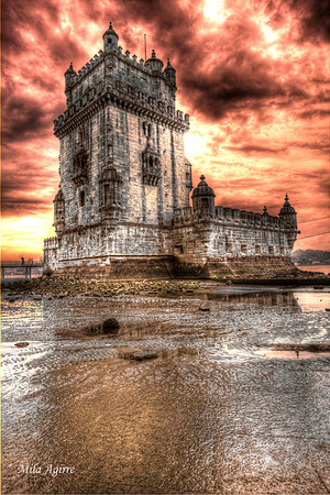 Belém Tower (Lisbon) is an UNESCO World Heritage Site. Built in the 16th century to be part of a defense system at the mouth of the Tagus River, it's a powerful symbol of portuguese heritage