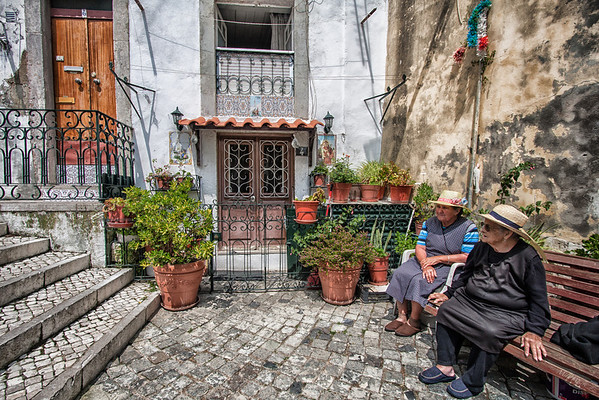 Take a sit and enjoy the evening in the Alfama, the oldest district of Lisbon where the past blends with the present.