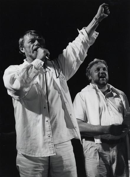 Gentse Feestenkopstuk André Vanhove en schepen Lieven de Caluwé, 1997.