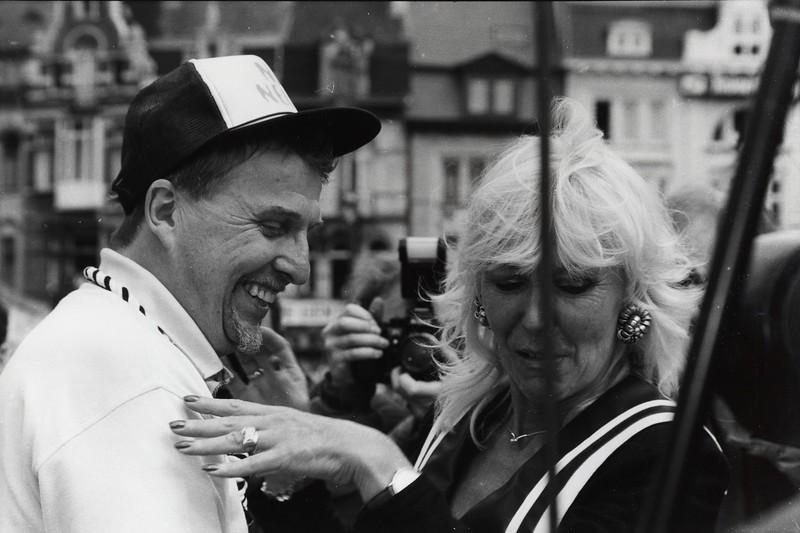 Schepen van Feestelijkheden Jaak De Poorter en Lilly Castel, 1997.