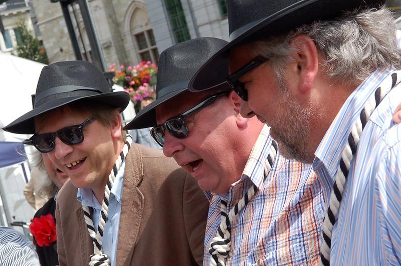 Guy Verhofstadt, Daniël Termont, Lieven Decaluwé, Braunplein, 2011.