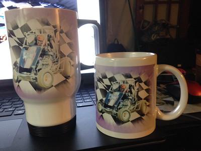 14oz travel mug or 11oz coffee mug
