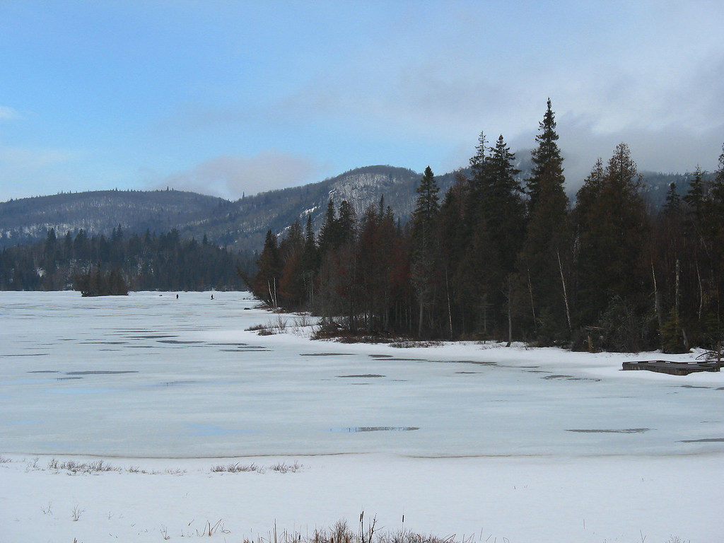 A pretty view of Peat Mountain rising above Rabbit Blanket Lake.